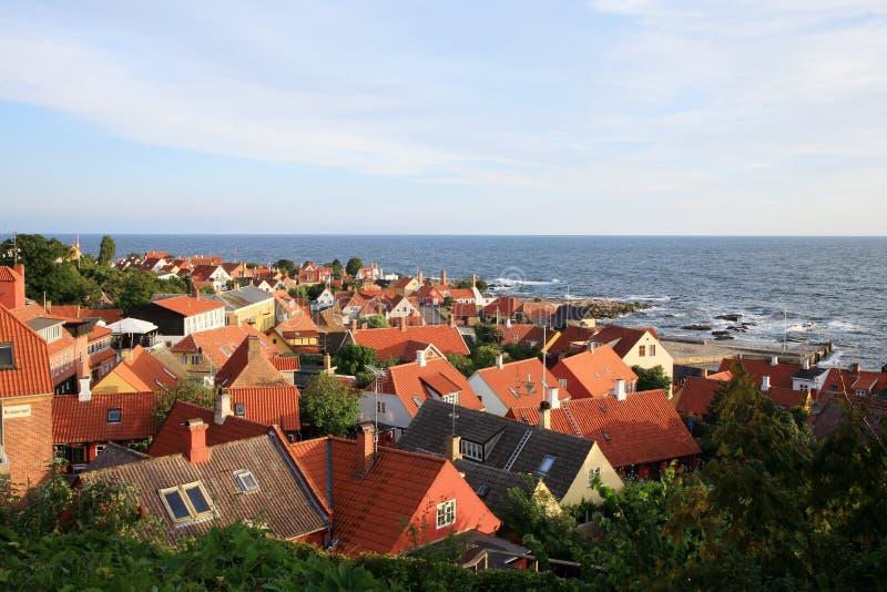 Gudhjem Bornholm, Danmark royaltyfri fotografi