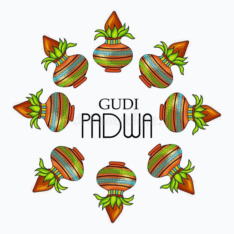 Gudi Padwa stock illustrationer