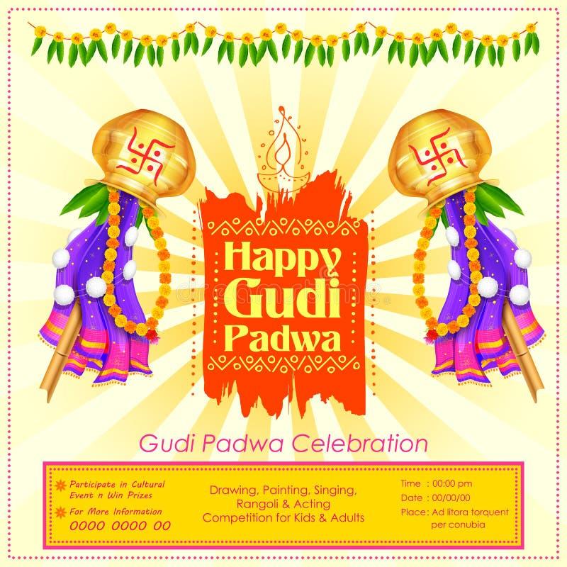 Gudi Padwa beröm av Indien stock illustrationer