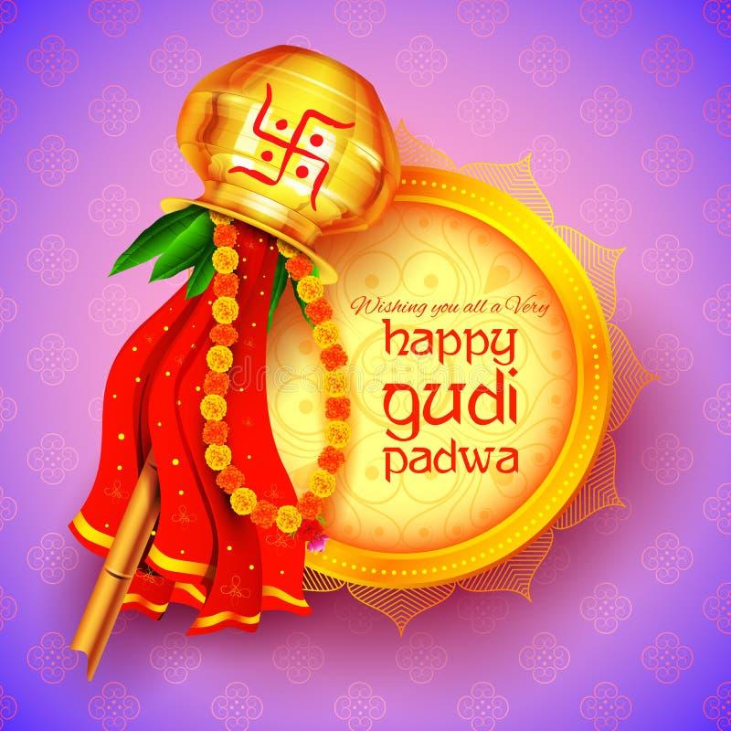 Gudi Padwa beröm av Indien royaltyfri illustrationer