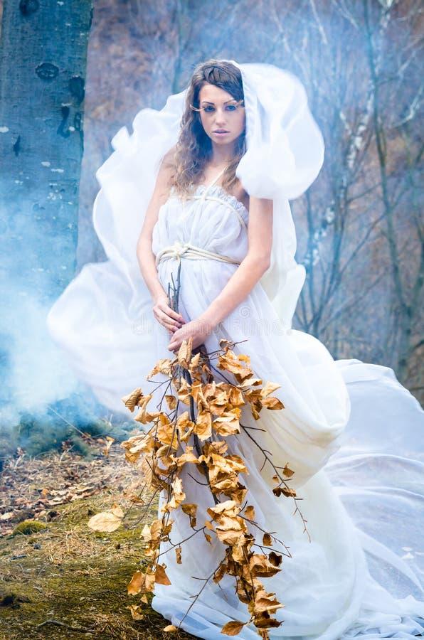 Gudinna av naturen arkivfoton