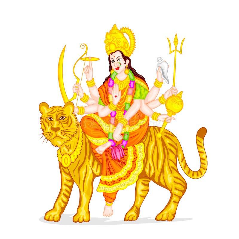 Gudinna Durga vektor illustrationer