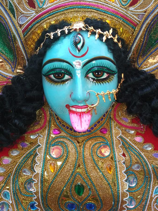 Gudinna Kali arkivbild