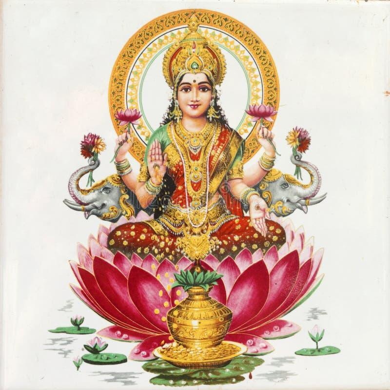 gudinnalakshmi arkivbilder