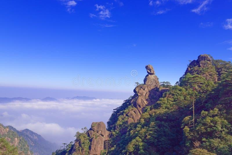 GudinnaMaximum-montering Sanqingshan royaltyfria foton