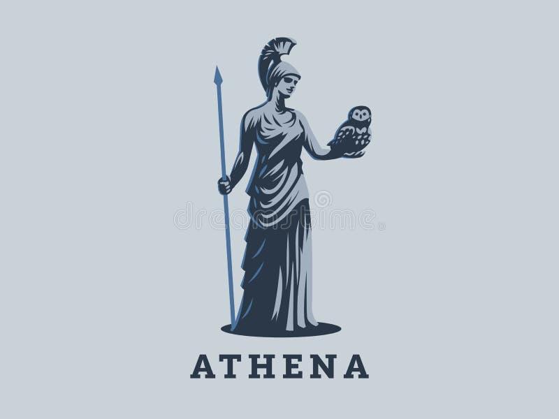 Gudinnan Athena royaltyfri illustrationer
