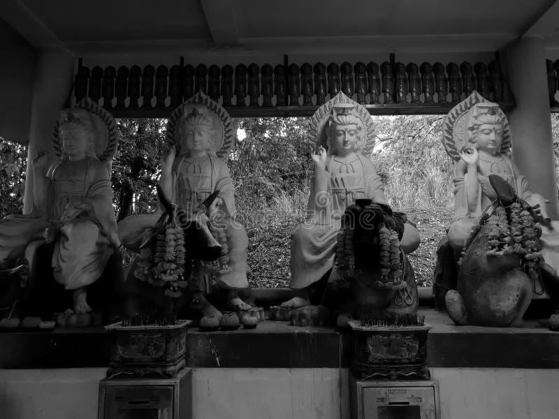 Gudinnan av förskoning på Kho Hong Mountain, Thailand arkivfoton
