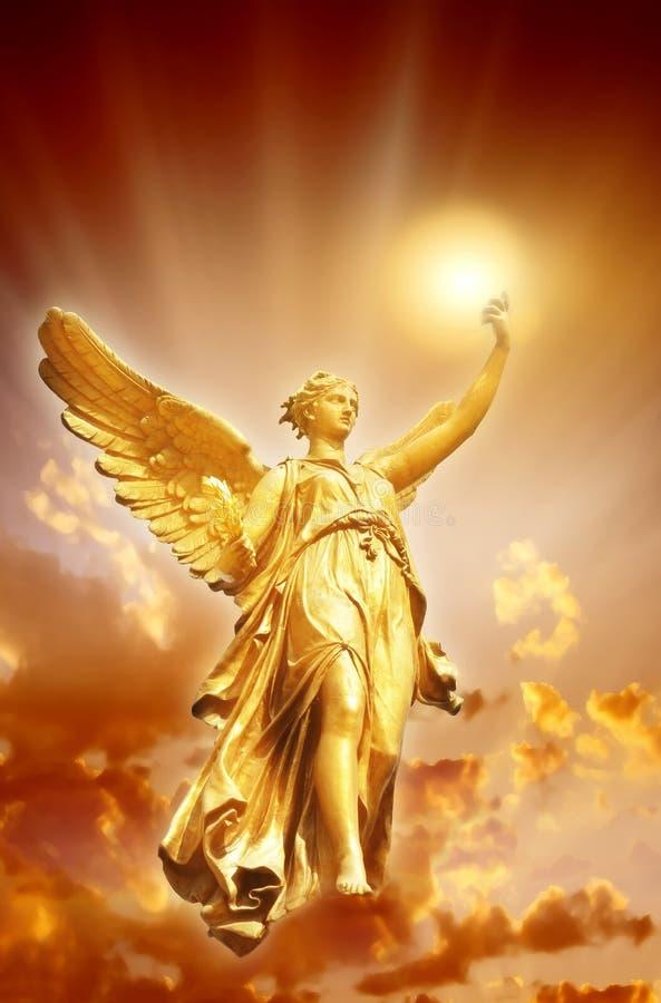 gudomlig lampa för ängel royaltyfria foton