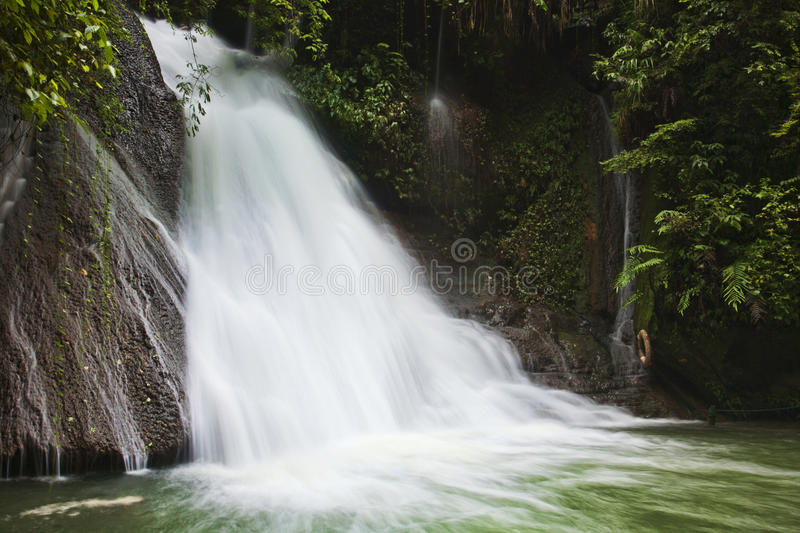 Gudong Waterfall Tourist Area Lacated In Guilin China Royalty Free Stock Photo