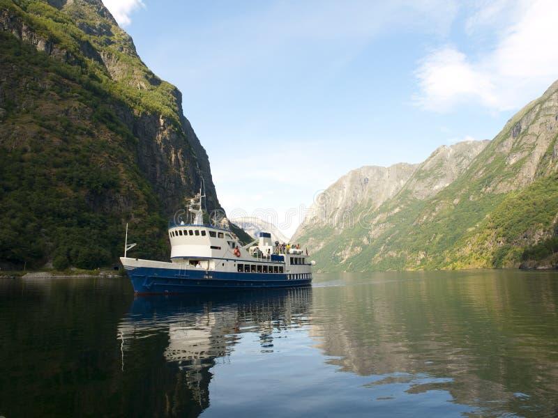 Gudvangen Fjord lizenzfreies stockbild