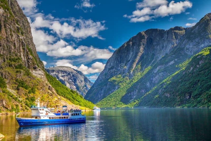 Gudvangen fjord, Norwegia, Europa zdjęcie stock