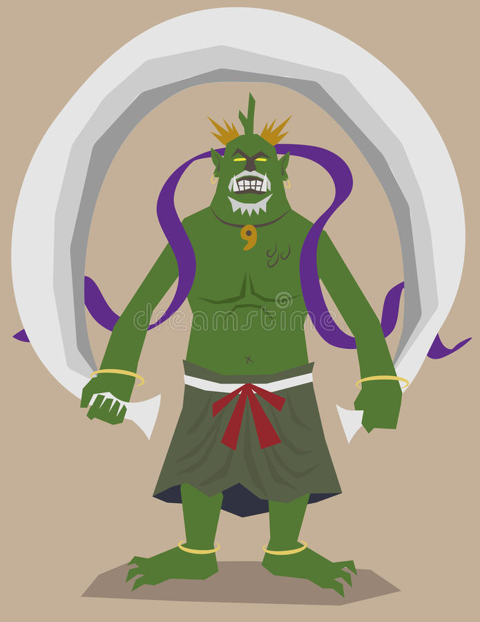 gudwind royaltyfri illustrationer