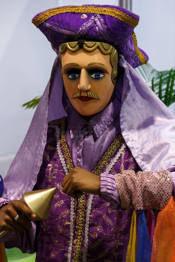 The Gueguense, nicaraguan folclore big puppet stock photography