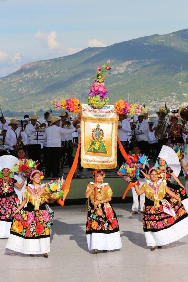Guelaguetza节日,瓦哈卡, 2014年 库存图片