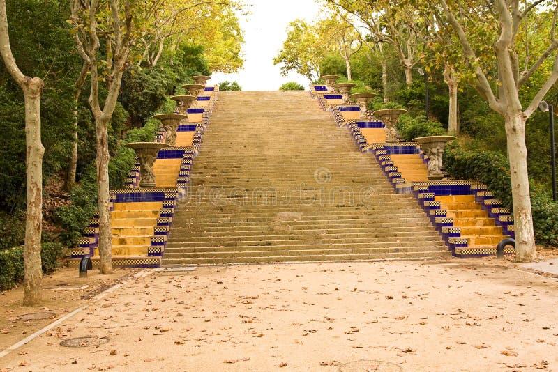 Guell de Parc de Gaudi fotografía de archivo