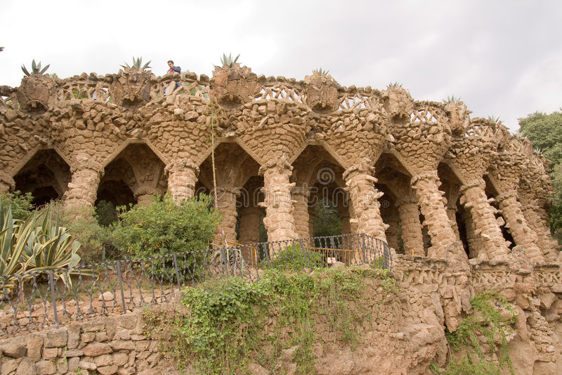 Guell de Parc por Gaudi imagens de stock royalty free
