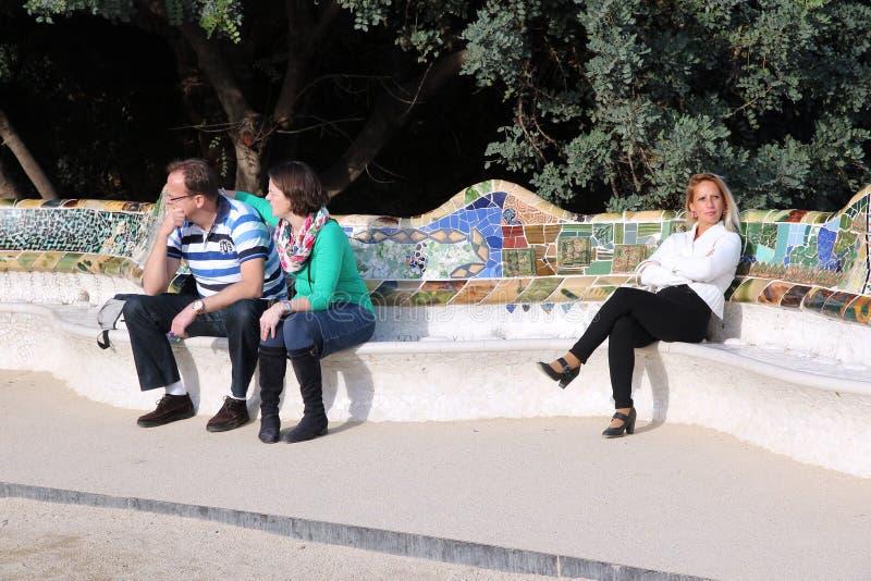 guell parc barcelona obraz stock