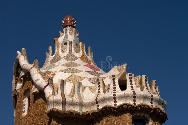 Guell Park In Barcelona Architecture By Gaudi Stock Image