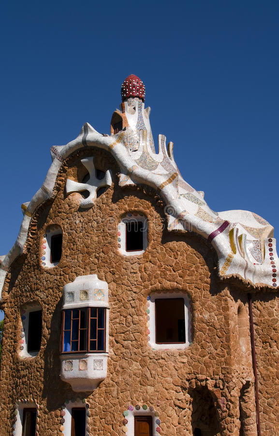 Guell Park In Barcelona Architecture By Gaudi Stock Photo