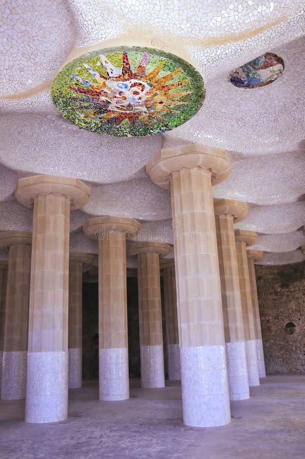 Download Guell sala hipostila parc στοκ εικόνες. εικόνα από ceiling - 22796854