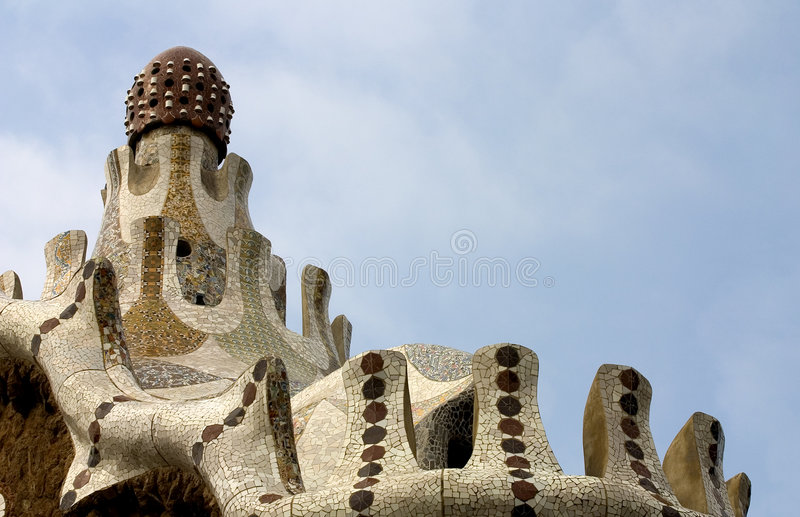 guellparc spain för 03 barcelona arkivfoto