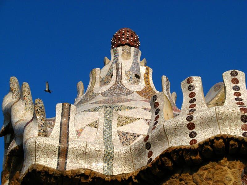 guellpark för 07 barcelona royaltyfri fotografi