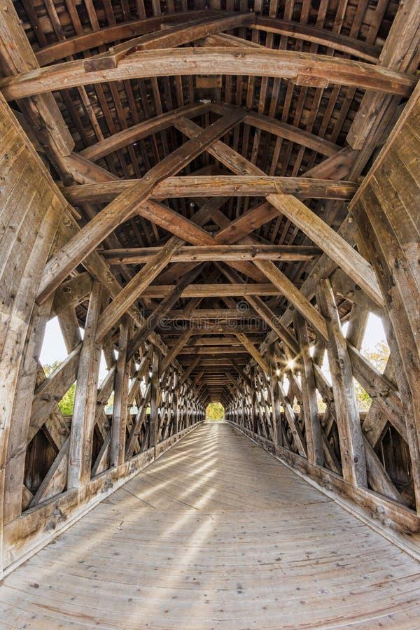Guelph-überdachte Brücke lizenzfreies stockbild