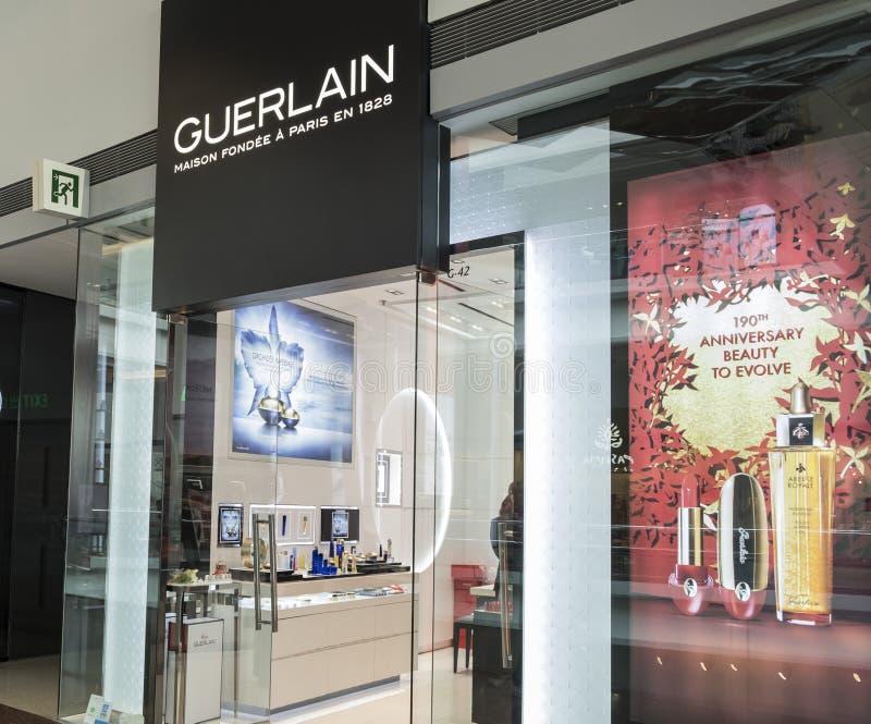 Guerlain store in Hong Kong. stock photo