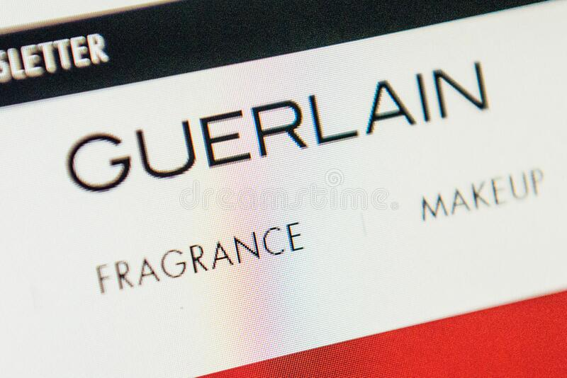 Guerlain Web Site. Selective focus. royalty free stock photography