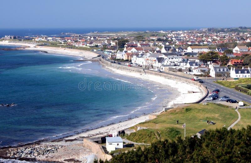 Guernsey Cobo zatoka obraz royalty free