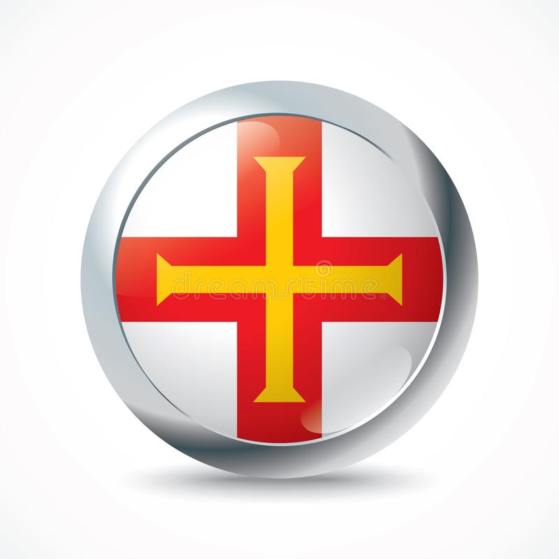 Free Guernsey Flag Button Royalty Free Stock Images - 125165529