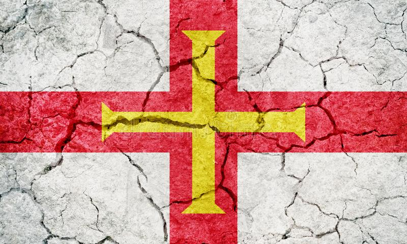 Guernsey flaga obrazy royalty free