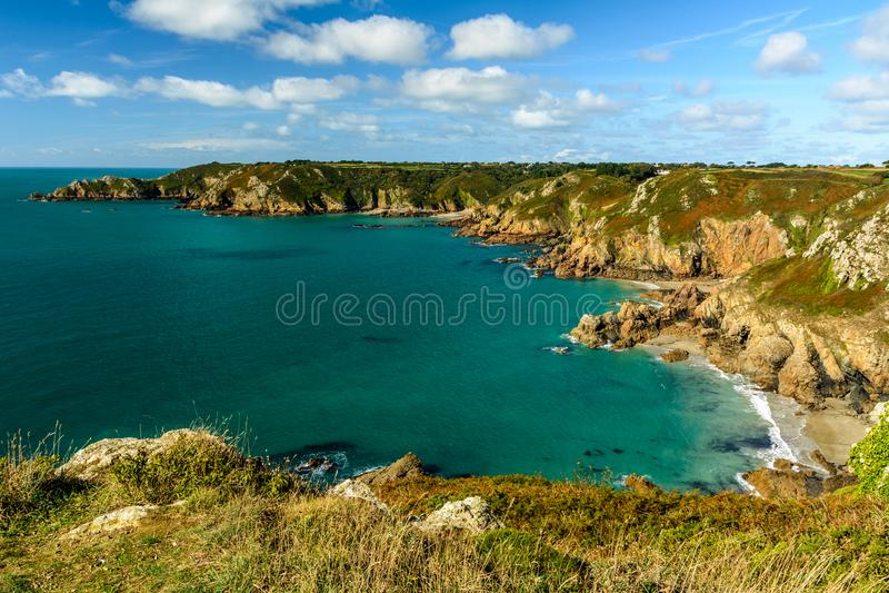 Guernsey-kustlijn royalty-vrije stock fotografie