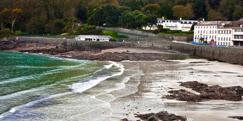 Guernsey plaża fotografia stock