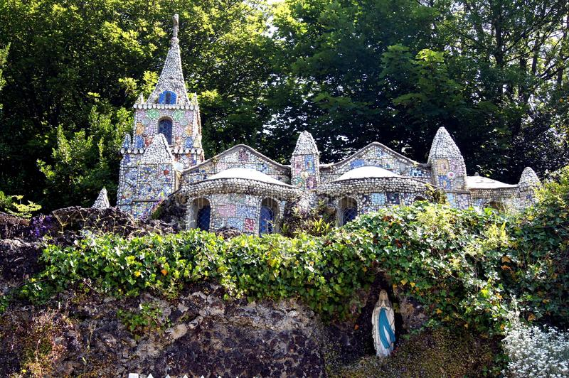 Guernsey -Roadside view of The Little Chapel stock photos