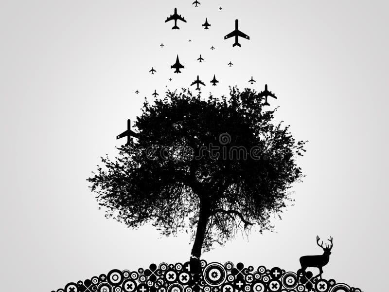 Guerra - árbol imagenes de archivo
