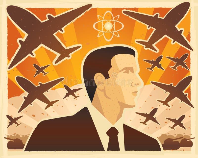 Guerra ilustração stock