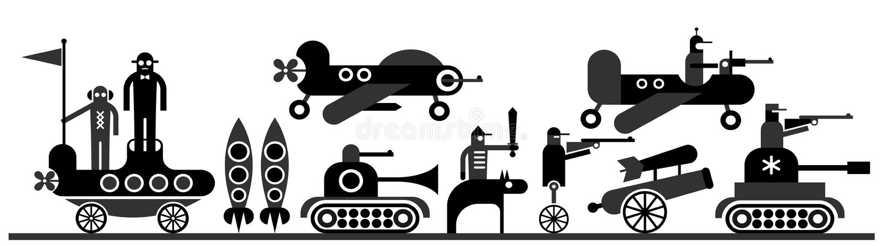 Guerra ilustração royalty free