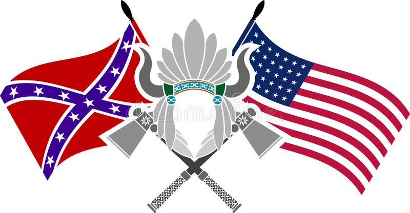 Guerra civil americana ilustração royalty free