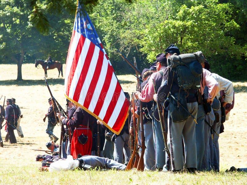 Guerra civil americana re-enactors. foto de archivo libre de regalías