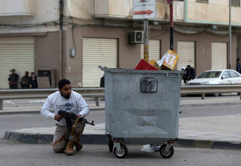 Guerra civil Bengasi de Libia imágenes de archivo libres de regalías