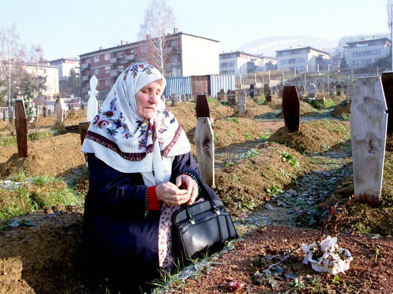 GUERRA CIVIL BOSNIANA fotos de stock royalty free