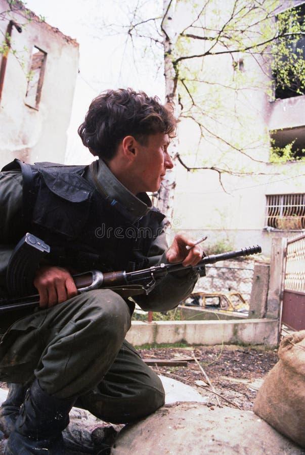 GUERRA CIVIL BOSNIANA fotografia de stock