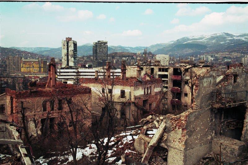 GUERRA CIVIL BOSNIANA fotografia de stock royalty free