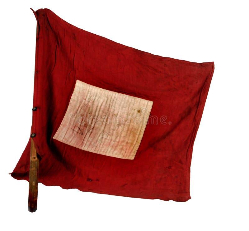 Guerra civil española Bandera de las señales de comunicación para la infantería vasca imagen de archivo