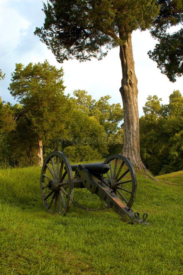 Guerra civil sola Canon, Vicksburg fotografía de archivo