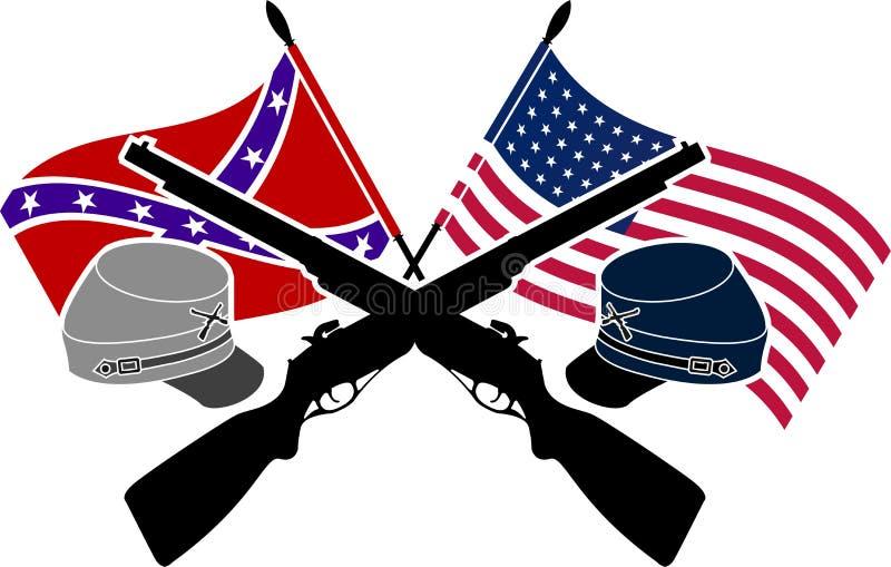 Guerra civile americana royalty illustrazione gratis