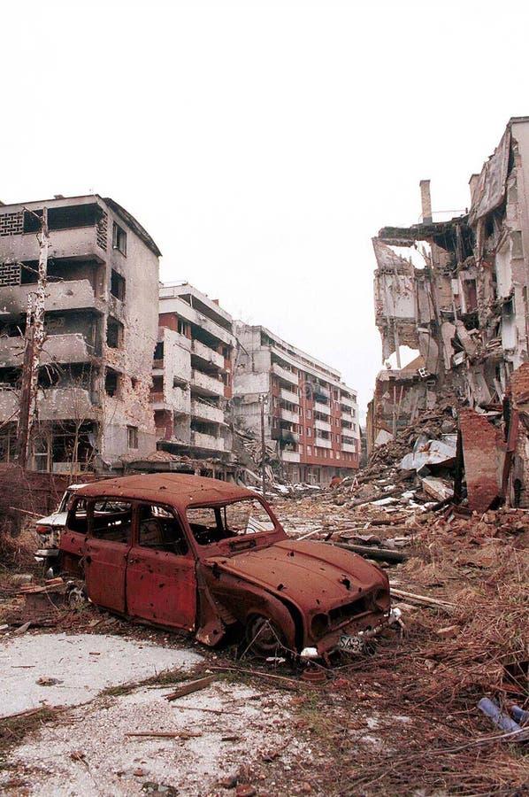 GUERRA CIVILE BOSNIACA fotografie stock