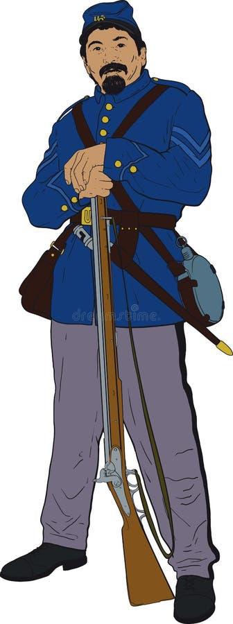 Guerra civile privata illustrazione di stock