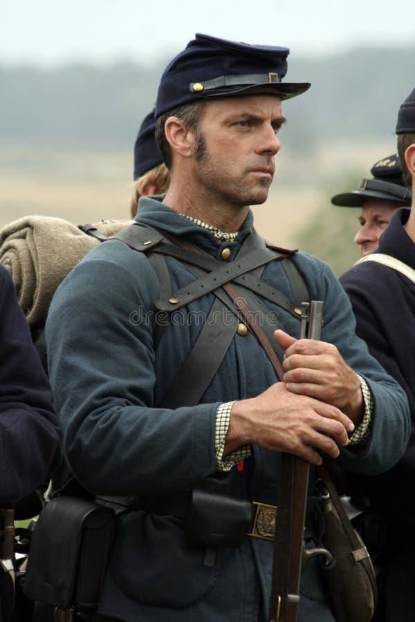Guerra civile Reenactor fotografia stock